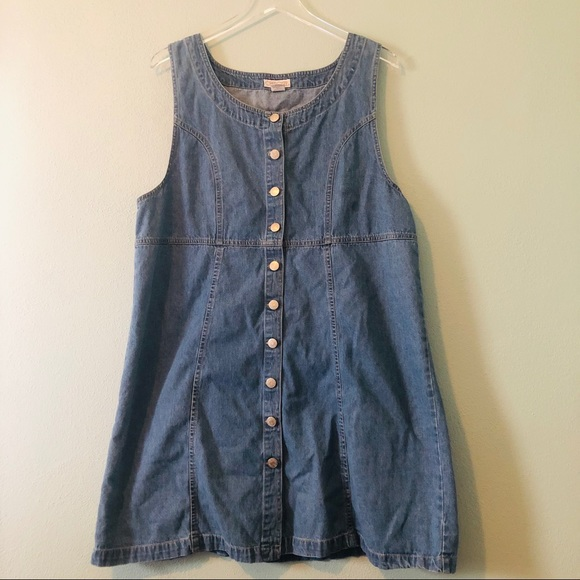 300ae7701f8 Cherokee Dresses   Skirts - Cherokee vintage denim button up jumper dress